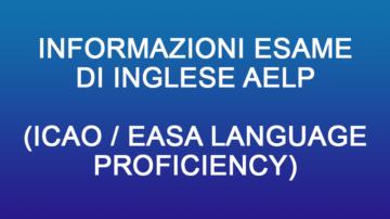 Esame di Inglese AELP (equivalente TEA) - Informazioni